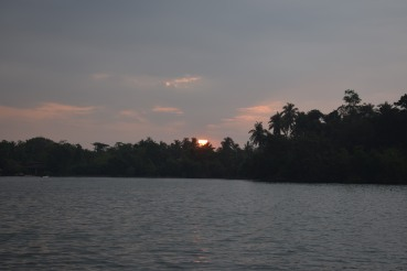Sunset on Rathgama lake
