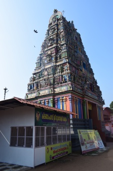 A Hindu temple in Allepey